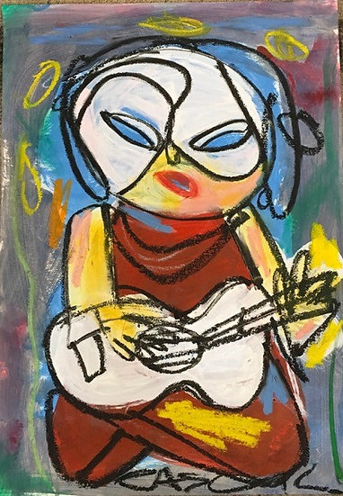 """Woman with Ukelele"" by Rascal"
