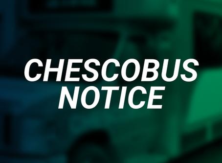 CHESCOBUS Fare Collection Resumes