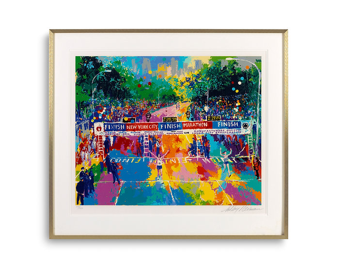 """Classic Marathon Finish"" by LeRoy Neiman"
