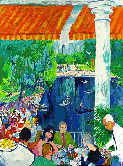 """The Boathouse, Central Park"" by LeRoy Neiman"