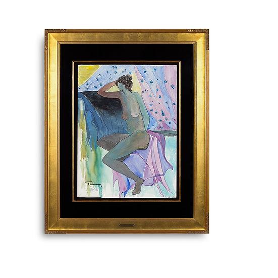 """""""Nude Woman"""" by Itzchak Tarkay"""