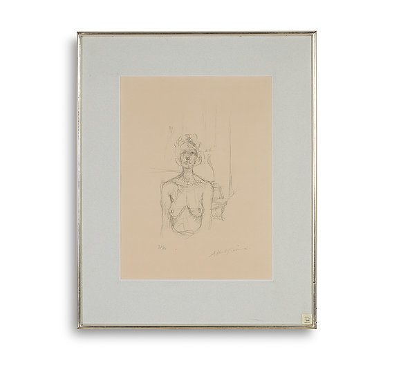 """Buste de femme (from Derriere le miroir)"" by Alberto Giacometti"