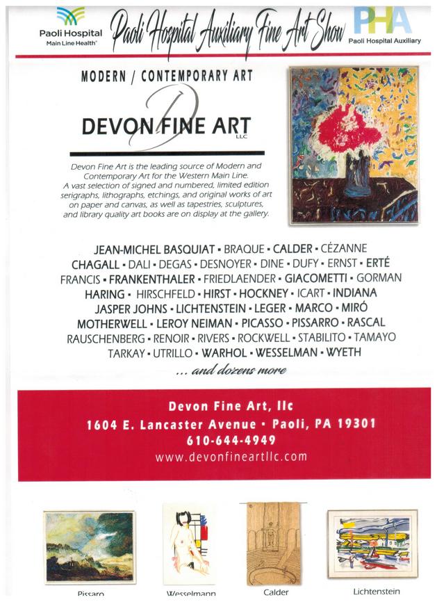 Paoli Hospital Annual Fine Art Show Flye