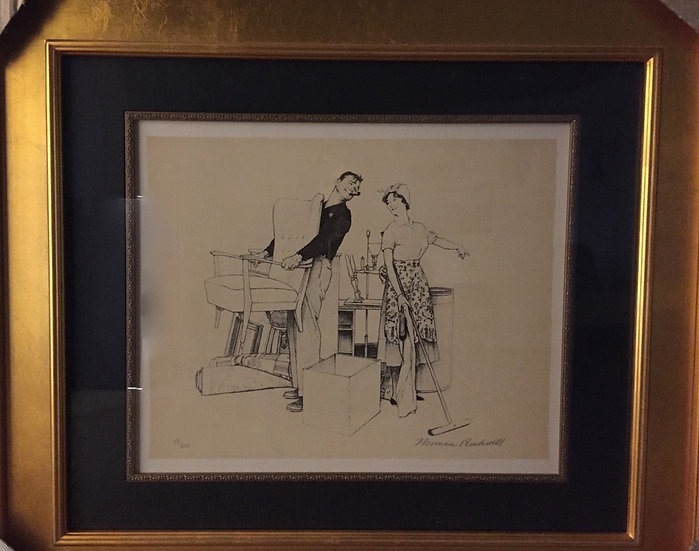 """Moving Furniture"" by Norman Rockwell"