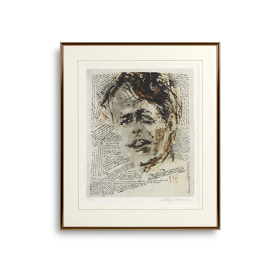 """Robert F. Kennedy Memorial Etching"" by LeRoy Neiman"