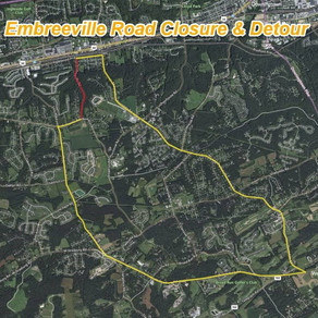 PennDOT to Close Embreeville Road, Route 841 for Roadway, Bridge Repair in Chester County