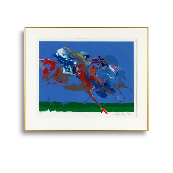 """In the Stretch"" by LeRoy Neiman"