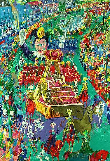 """""""Mardi Gras Parade"""" by LeRoy Neiman"""
