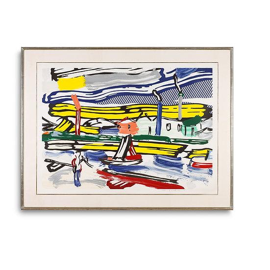 """The River, from Landscape Series"" by Roy Lichtenstein"