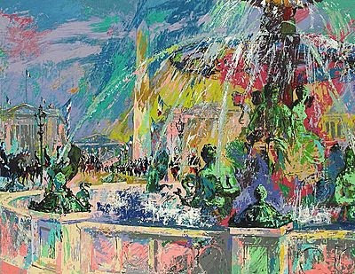 """Place de la Concorde"" by LeRoy Neiman"