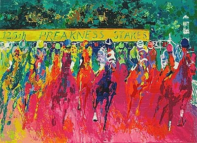 """""""125th Preakness Stakes"""" by LeRoy Neiman"""