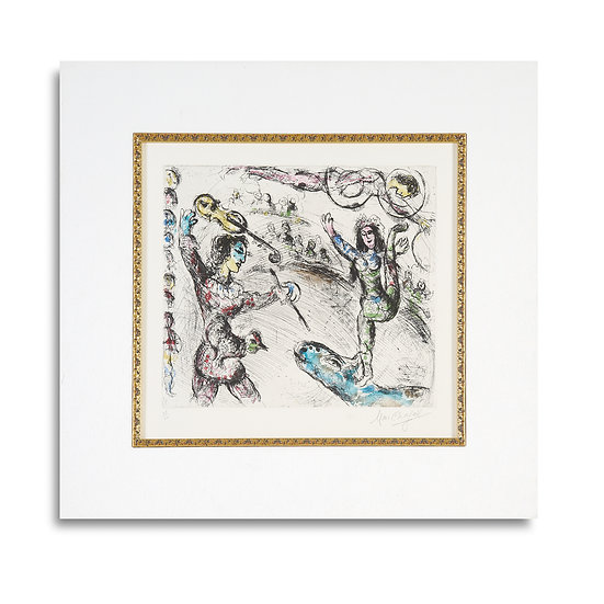"""Acrobat et Violionist"" by Marc Chagall"