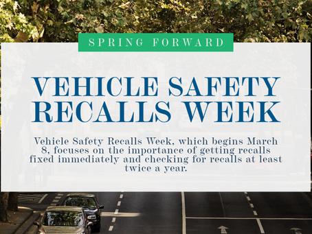 Vehicle Safety Recalls Week