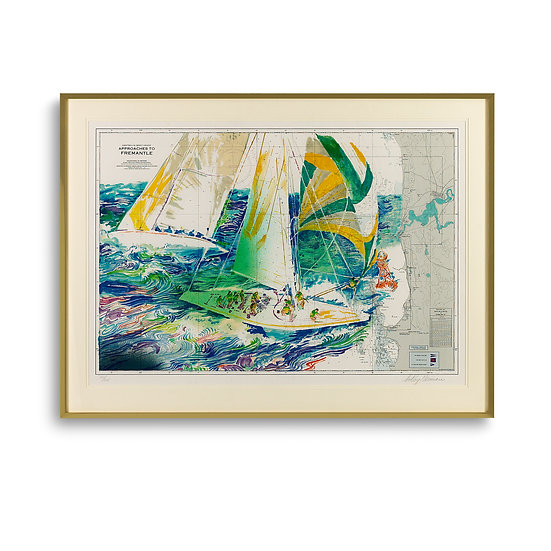 """The America's Cup - Australia"" by LeRoy Neiman"