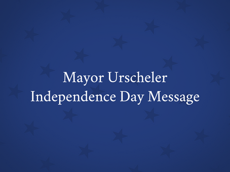 A Message From Our Mayor