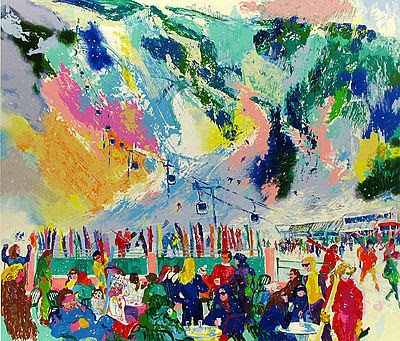 """Aspen Mountain Rendezvous"" by LeRoy Neiman"