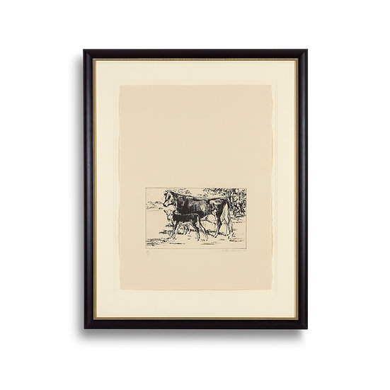 """Bovine Family - Eaux Fortes Suite"" by LeRoy Neiman"