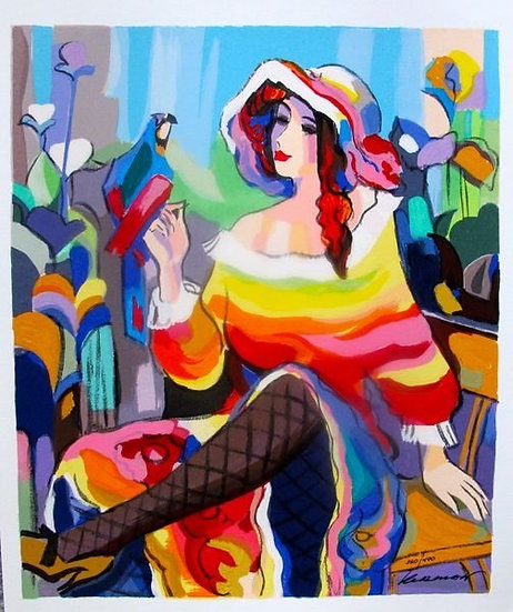 """Lady with a Parrot"" by Michael Kerman"