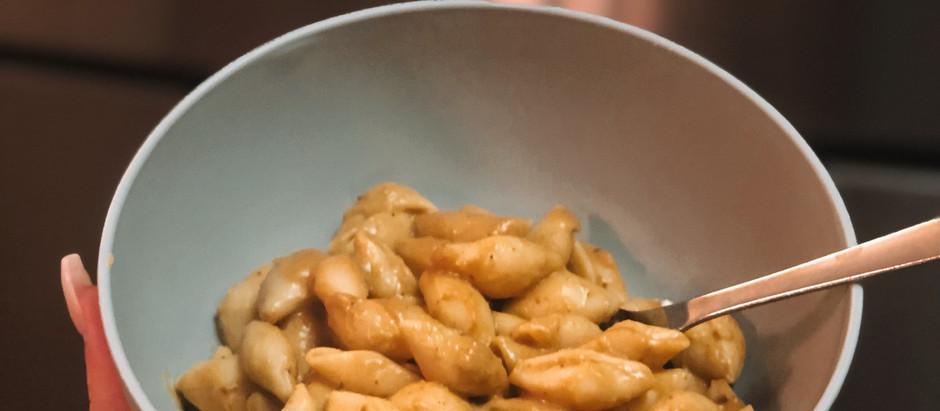luxurious butternut squash pasta