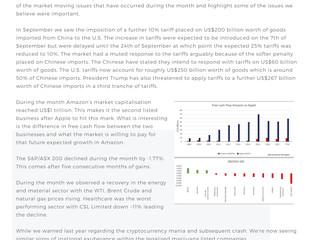 Market Report: October 2018