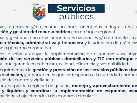 Cobertura y calidad de los servicios públicos, temas a trabajar en la Región Metropolitana