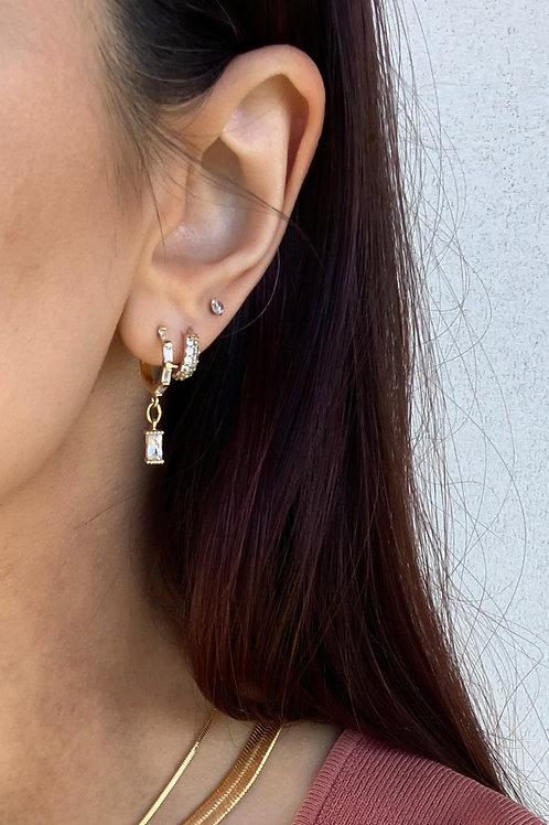 Cubic Drop Earrings