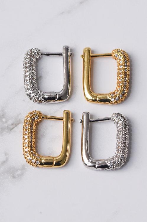 Square Pavé Earrings