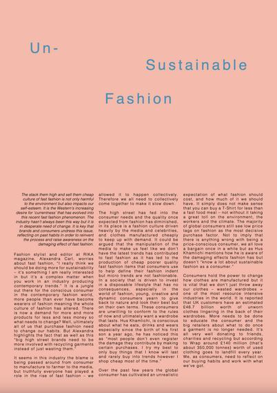 Un-Sustainable Fashion