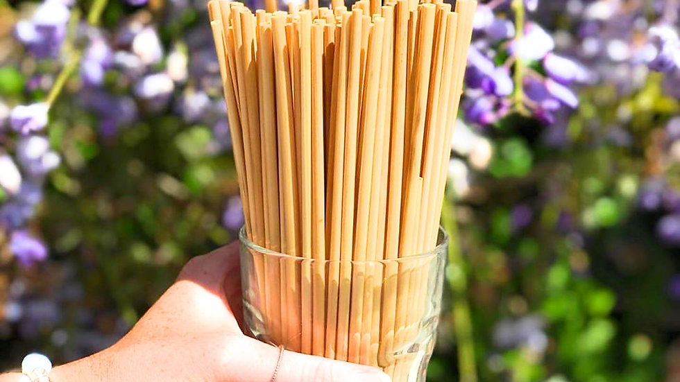 Natural Wheat drinking straws(Pack of 100)