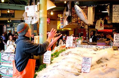 派克市場魚販
