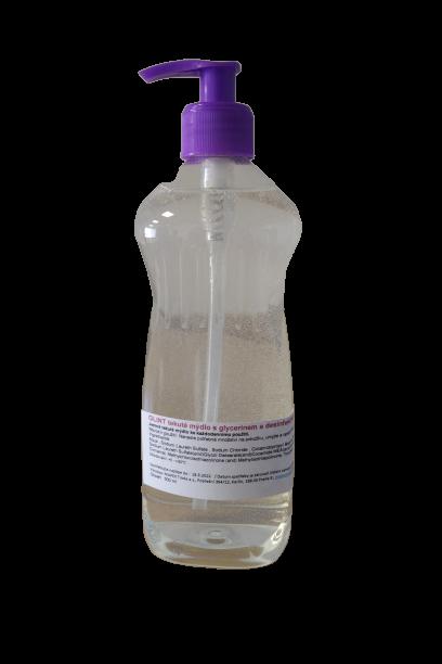 GLINT - tekuté mýdlo s glycerolem a dezinfekcí, 1 000 ml s dávkovačem