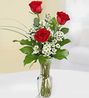 3 Rose Bud-Vase