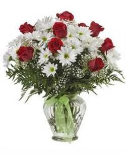 Rose & Daisy Vase