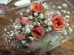 Peach/Pink Sweetheart Corsage