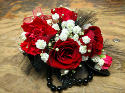 Mixed Red Corsage