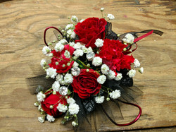 Red Mini-Carnation Corsage