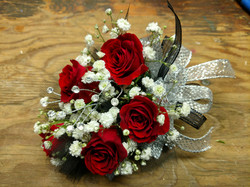 Red Sweetheart Corsage