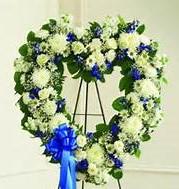 Blue & White Heart