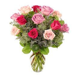 Mixed Rose Vase