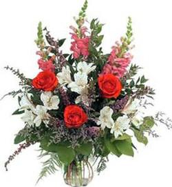 Mixed Vase w Roses