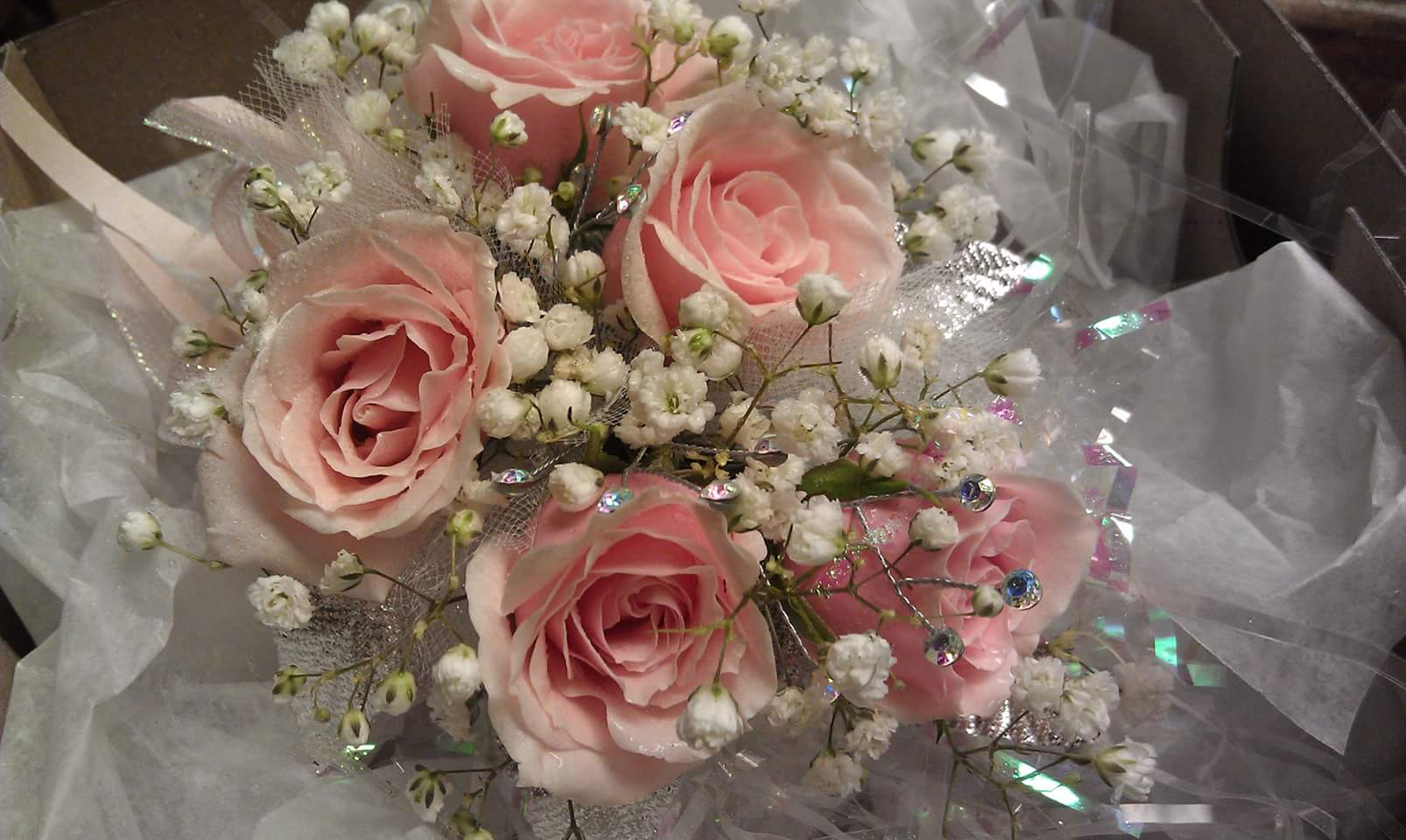 Blush Pink Sweetheart Corsage
