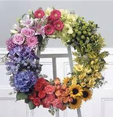 Garden Sympathy Wreath