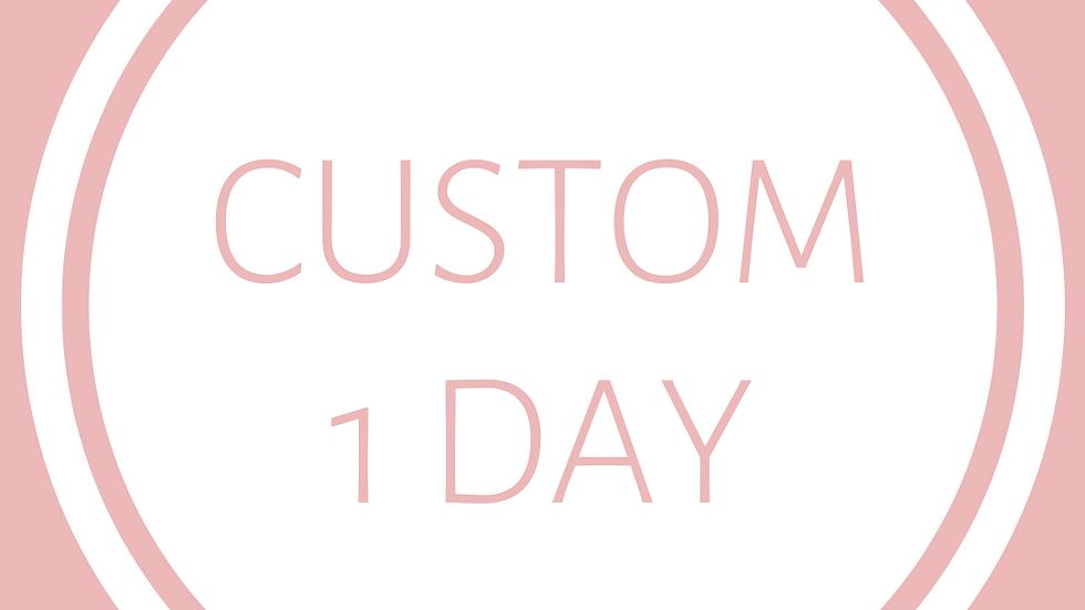 CUSTOM ITINERARY - 1 Day