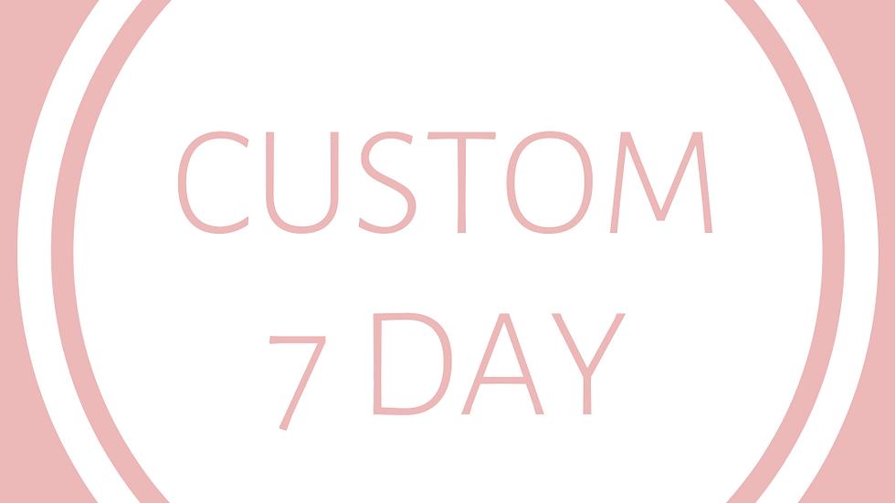 CUSTOM ITINERARY - 7 Day