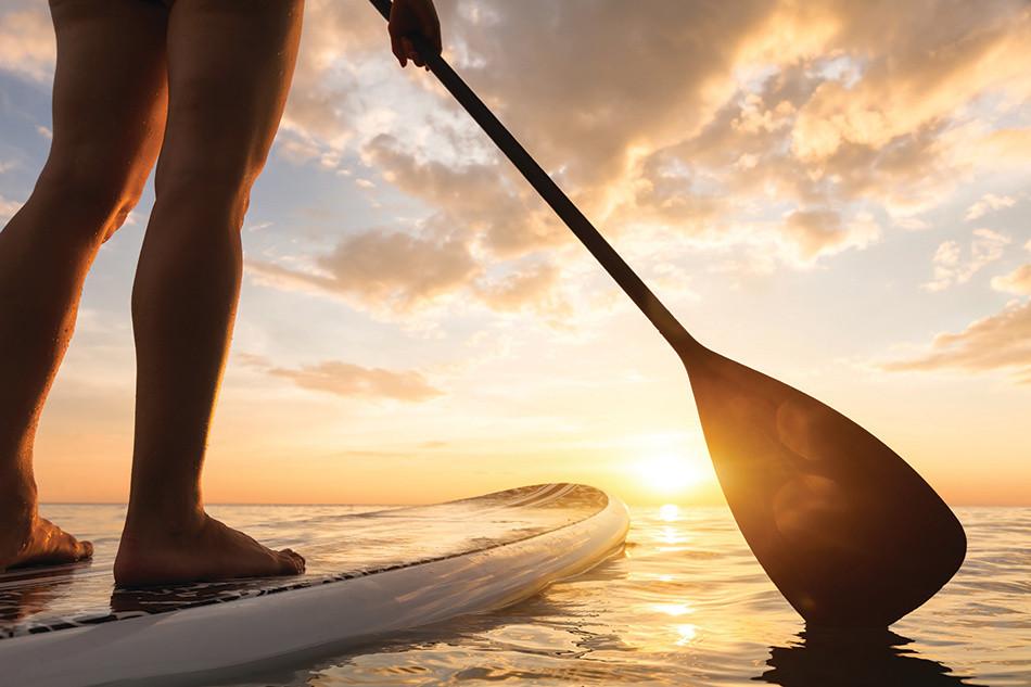 Yolo boarding at sunset