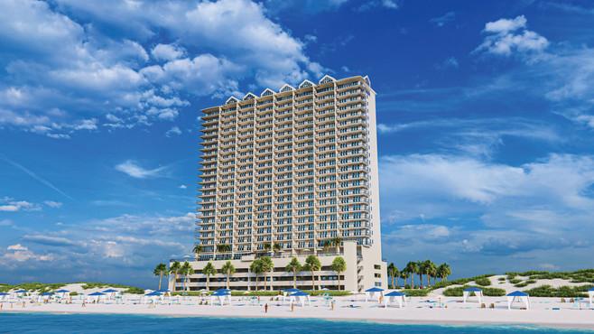 Palace Sands Beach Side Elevation