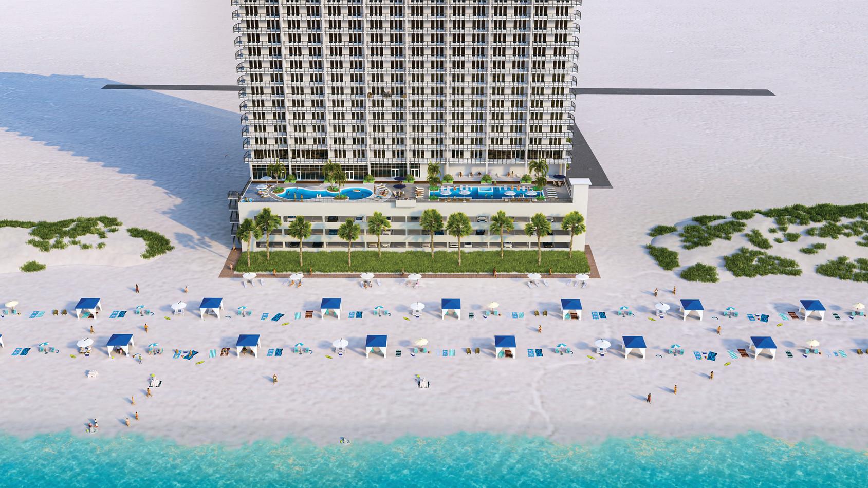 Palace Sands Beachside Elevation