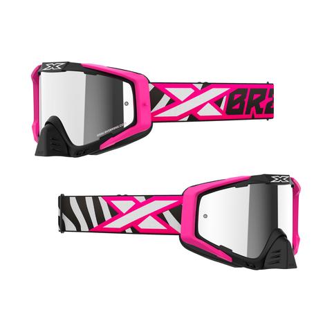 EKS-S Iridium Goggle Flo Pink/Zebra