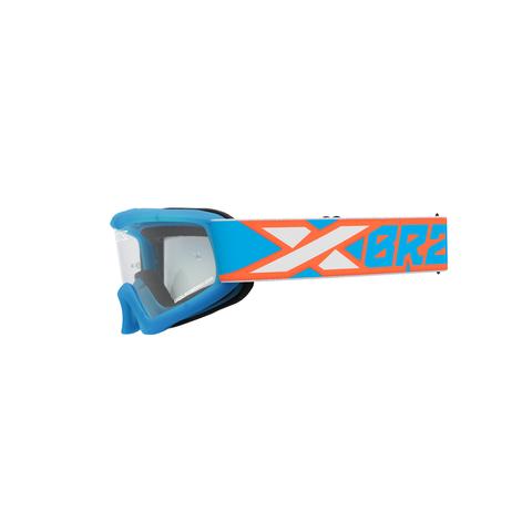 XGROM Youth Goggle Cyan/Flo Orange/White