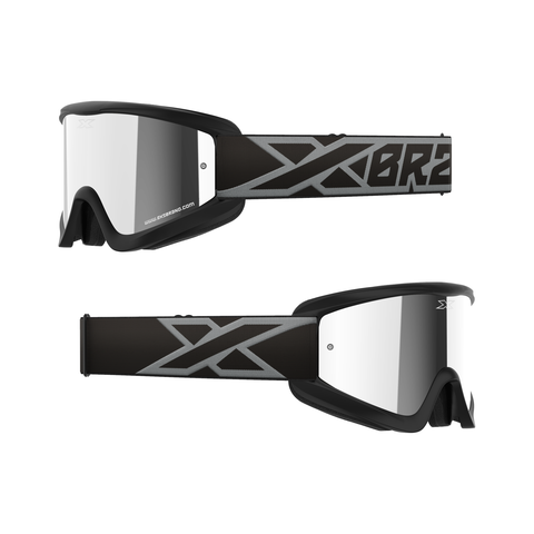 GOX Flatout Iridium Goggle Black/Silver